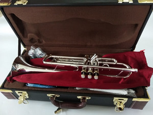 Baha Stradivarius Top Trumpet LT197S-99 Music instrument Bb Trumpet gold plated professional grade music Free
