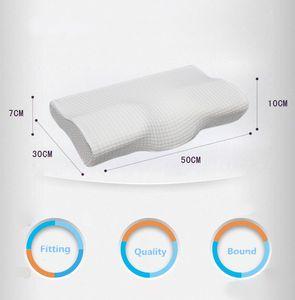 Orthopädische Latex Magnetic 50 * 30CM weiße Farbe Nackenkissen langsame Rückstoß-Gedächtnis-Schaum-Kissen Cervical Health Care Schmerzmitteilung