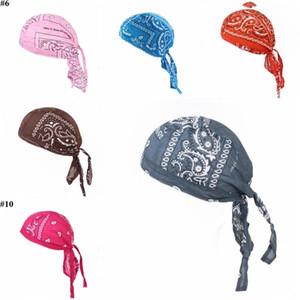 Korsan Şapka durags Bandana Turban Peruk Pamuk Amip Cap Açık Bisiklet Şapka Erkekler Kadınlar Kafatası Şapkalar Kafa Saç Aksesuarları d7491 Caps