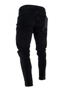 Fashion-Mens Designer Jeans Fashion Skinny Zipper lambrissé Hommes Crayon Pantalons simple Zipper hommes Fly Vêtements