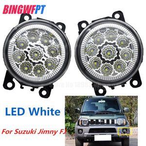 2 PCS Car Styling LED Luzes de Nevoeiro Da Frente branco amarelo Lâmpadas Rodada Bumper para Suzuki Jimny FJ 1998-2016