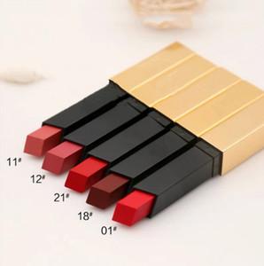 Mode Y5L Matte Lipstick Rouge Marque 6 couleurs rouge à lèvres mat Foggy Cosmétiques Tube Or Beauté Maquillage Lèvres Waterproof
