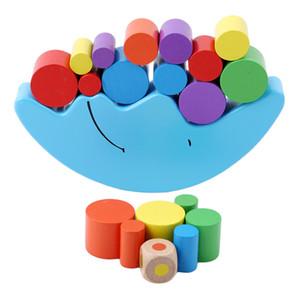 Lua Balancing quadro do bebê Early Learning Toy Montessori didáctico lua Saldo cedo colorido Desenvolvimento Wood Blocks Brinquedos