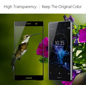 2pcs / lot 화면 보호기 Sony XZ2 Compact XZ2 프리미엄 Full Coverage 용 강화 유리 필름 Shockproof Sensitive HD Ultra Thin