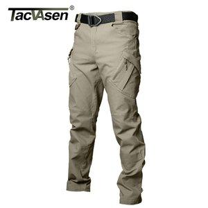 TACVASEN IX9 мужские тактические брюки мульти карманы брюки карго осень армия боевые брюки повседневные хлопчатобумажные брюки одежда