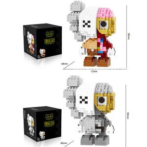 Minik parçacıklar yapı taşları sevimli okuma oyunu oyuncaklar 3D modeli çocuk Mini tuğla oyuncaklar 6 stilleri için