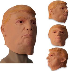 Président américain 2020 Trump Masque Trump perruque Spoof Hillary Party Masque 3 style de latex Matériaux EMS XD22889