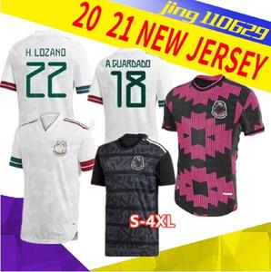 S-4XL OYUNCU VERSİYONU 20 21 Meksika Futbol formaları uzakta H.LOZANO DOS SANTOS Chicharito 2020 2021 milli takım sporları futbol üniforma gömlek