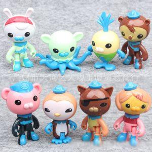 Octonautas boneca ação dos desenhos animados Figuras Barnacles Kwazii Peso Shellington Dashi Professor Inkling Tweak boneca brinquedos