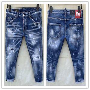 2020 nova marca de moda casual jeans europeus e americanos dos homens, lavagem de alta qualidade, moagem pura mão, otimização da qualidade LT935