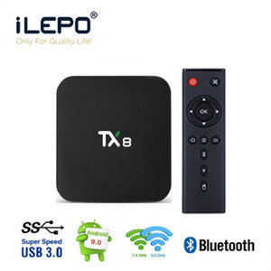 TX8 Android 9.0 Scatola TV Rockchip RK3318 4 GB 32 GB 64 GB 2.4 + 5G WiFi BT 4.0 USB 3.0 Smart TV Box