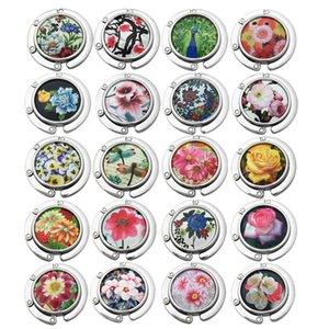 Pendurado Saco Gancho Cerâmica Circular Ideia Criativa Dobre Ganchos Presente Animal Botânica Flor Pavão Libélula Venda Direta Da Fábrica 6yd p1