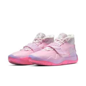 Erkek için 2020 Yeni KD 12 Ne Teyzem Pembe Kevin Durant XII Basketbol Ayakkabı 12s KD12 Tasarımcı Wings Spor Spor ayakkabılar Size7-12
