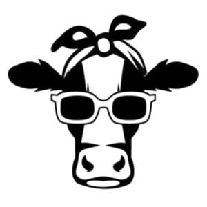 15 * 13.7cm vaca animales del campo lindos Vida de la motocicleta pegatina de ventana de coche SUV portátil estilos de etiqueta engomada del coche del coche