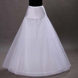 Ucuz Bir Çizgi Tül Düğün Gelin Petticoat Dantel Trim Kadın Jüpon Crinolines Gelinlik Gelinlik Modelleri Balo için Kayma Prenses