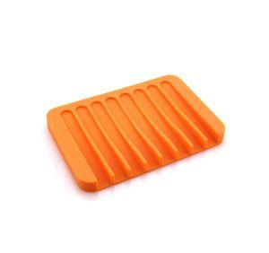 NEW Bathroom Silicone Flexible Soap Dishes Storage Holder Soapbox Plate Tray Drain Creative Bath Tools Drop ship