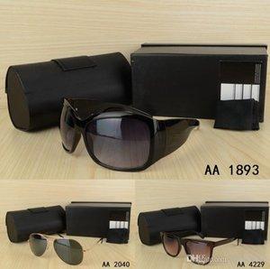 2018 Elegante estilo de lujo, la mejor calidad Hombres o mujeres Gafas de sol con lentes originales de caja Vestido vintage Fiesta Visión casual Conducción Gafas