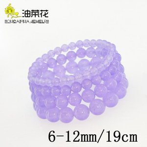 Fashion Natural Stone Violet Jades 6-12mm Round Bead Bracelet Crystals Gems Accessories Yoga Man Woman Gift Christmas Wholesale