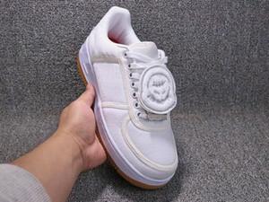 Alta Qualidade x TRAVIS SCOTTs Das Mulheres Dos Homens Sapatos de Skate Branco 3 M refletem Moda Tênis Casuais tamanho 5.5-11