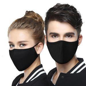 Máscara Negra Unisex Wecan Balaclava face Dustproof Pm2 0,5 Poluição Meio FaceMouth com a respiração alças largas lavável reutilizável