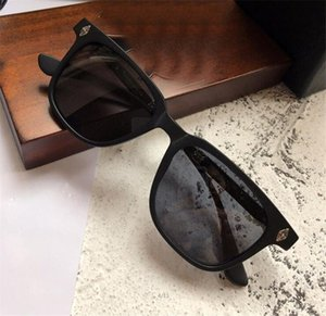 New popular retro homens óculos de sol do punk designer de estilo retro moldura quadrada com revestimento de caixa de couro reflexivo lente anti-u ...