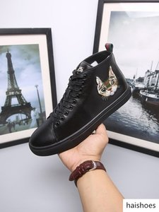 duping520 Men Leather high-top sneaker with Bee Blooms Snake Dragon Tiger Head Feline shoes HOT ACE BEE EMBROIDERY WOMAN MAN SNEAKERS SPORTS