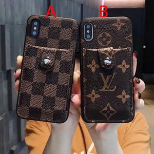 2019 nova marca design do telefone móvel case com pacote de cartão para o iphone xs max xr x 7 7 plus 8 8 plus 6 6 mais