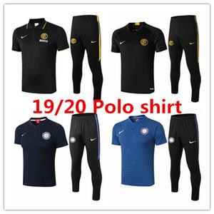 19 20 Inter de Milão mens camisa pólo Martínez fatos de treino de manga curta de Futebol de futebol de formação Lukaku Sánchez tshirt Barella kits ternos