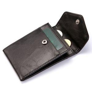 Carteira De Couro De Luxo Pequeno para Homens RFID Bloqueando Titular Do Cartão De Crédito Das Mulheres Mini Bifold Bolsa De Bolso