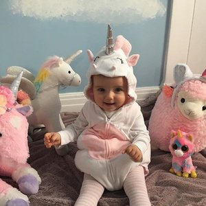 European and American Foreign Trade Hot Boys and Girls Clothes Infant Cute Shape Unicorn Romper Baby Jumpsuit