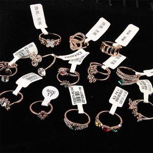 Micro-set de luxe fine bague version coréenne chaude strass mignonne double couche fleur peal miroir surface anneau gros bijoux DHL
