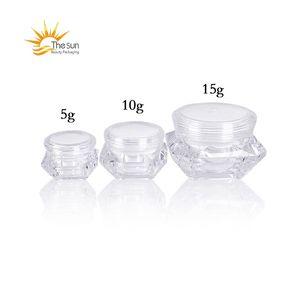 5G 10G 15G Vide Cosmétic Conteneur Exemple Soins de la peau Pot Jar Pot De Diamant Forme Cosmétique Bouteille de bouteille