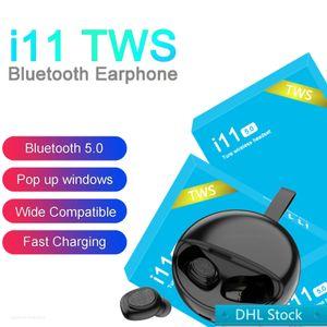 I11 TWS اللاسلكي سماعات بلوتوث سماعات أذن مع التوائم سماعات الأذن البسيطة لi7s i7minii1i9si12 I11 5.0 مسة boxSpecifications الأزرق: