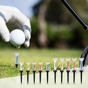 90мм 5шт Открытый гольф Обучение Бал Tee Magnetic Шаг вниз Мяч для гольфа держатель аксессуары
