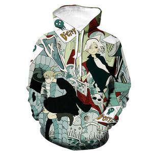 Anime Pattern Hoodies Soul Eater 3D Print Men Women Hooded Sweatshirt Harajuku Hip Hop Streetwear Hoodie Sport Pullover Clothing