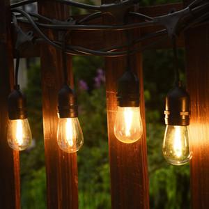 Водонепроницаемый 15M 15 светодиодных гирлянд Крытый Открытый коммерческого класса E26 E27 Садовой улице Патио Backyard праздник Струнный освещение