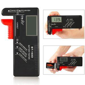 BT168 BT168D اختبار قدرة البطارية الرقمية الذكية مؤشر الطاقة قياس ل 9 فولت بطاريات زر خلية 1.5 فولت