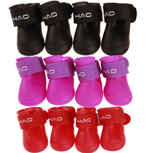 Pet Rain Shoes Waterproof Dog Boots Outdoor Running Rain Shoes Boots 7 Candy Color 10Sets Wholesales