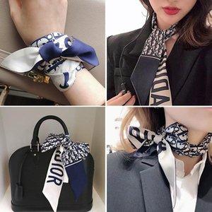 Lettera Seta Designer Scarfsins di nuovo stile lungo piccola sciarpa di seta femminile artificiale D Piccolo cravatta nastro Bag maniglia Sciarpa di seta Sciarpa decorativo