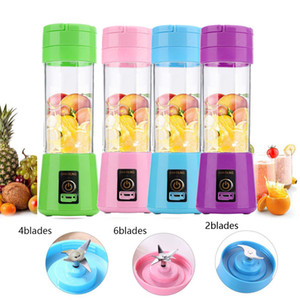 380ml Cup Blender Portable USB Juicer 6 Lames électrique automatique Smoothie légumes fruits Jus d'orange Citrus Cup Maker Mixer machine
