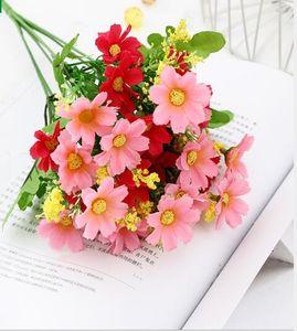 Имитация Daisy Новый дом украшения Имитация Flowe Поддельный цветок Шелковый цветок Juglans Домашнее украшение цветок WL213