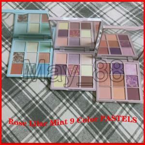 ROSE LILA MINT Pastelle 9 Farben Lidschatten-Schimmer-Matt Glitter Metallic pigmentierte Tragbarer 9 Farben Pastell Augen bilden Paletten-kosmetischen