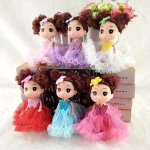 12 cm vestido de noiva confundido um saco de pingente de boneca acessórios pingente de boneca brinquedos chave fivela menina toys