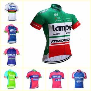 equipe LAMPRE Ciclismo manga curta estrada camisa desgaste bicicleta manga curta Verão ciclismo Jersey para homens Mountain Bike camisola B611-31