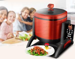 220V Rotatable Multifunctional Electric Cooking Pot Intelligent Automatic Electromagnetic Wok Fry-Stirring Machine EU AU UK US LLFA
