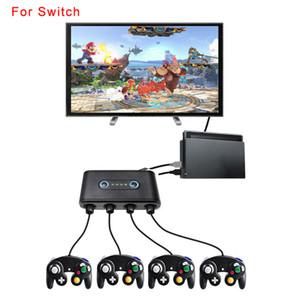 Interruptor conversor A / Wii U / PC Converter NGC conversor de três gerações alça GC para controlador de jogo Compatível com quatro conjuntos, ao mesmo