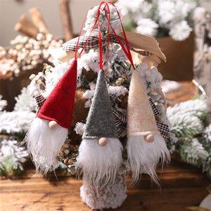 colgante de la botella de Navidad de Santa del ornamento Lucky Red Wine cubierta del partido del festival de Navidad ventana del escaparate de la muñeca de Santa Claus