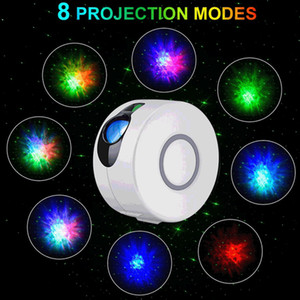 USB Remote Starry Galaxy Projector Laser Stage Lamp for Disco DJ LED Night Light Sky Ocean Wave Projection Led Atmospher Decor