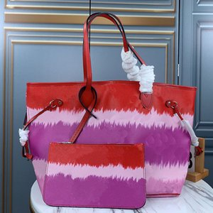 Classic cloud Arcobaleno Contrasto colori Borse Shopping bags Shoulder Bag Beach borse reale Borsello in pelle borsa Messenger borsa