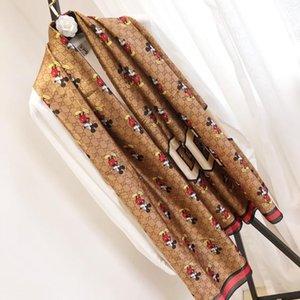 Bufandas de la manera para la impresión de las mujeres bufanda de seda femenina 180x90cm larga del mantón del pañuelo para la cabeza Bufandas grandes para las señoras